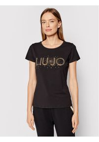 Liu Jo Sport T-Shirt TF1219 J5972 Czarny Regular Fit. Kolor: czarny. Styl: sportowy