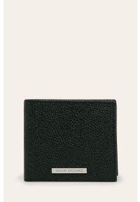 Armani Exchange - Portfel skórzany. Kolor: czarny. Materiał: skóra. Wzór: gładki