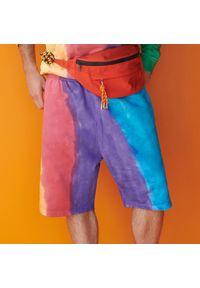 Reserved - Dresowe szorty z efektem tie dye - Wielobarwny. Materiał: dresówka