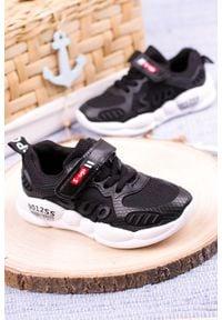 Casu - czarne buty sportowe na rzep casu 204/12m. Zapięcie: rzepy. Kolor: czarny