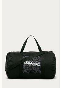Czarna torba podróżna Only Play z nadrukiem