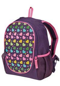 Herlitz plecak Rookie tęczowe serca. Kolor: fioletowy. Wzór: paski