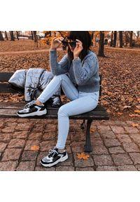Półbuty Calvin Klein Jeans na co dzień, z cholewką