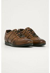 Wojas - Półbuty skórzane. Nosek buta: okrągły. Zapięcie: sznurówki. Kolor: brązowy. Materiał: skóra #4