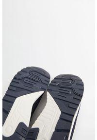 Niebieskie buty sportowe Mango Man z okrągłym noskiem, na sznurówki, z cholewką
