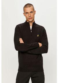 Czarny sweter Brave Soul krótki, na co dzień, z długim rękawem
