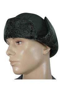 Szara czapka elegancka, na zimę