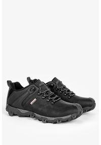 Badoxx - Czarne buty trekkingowe sznurowane badoxx mxc8845/g. Kolor: wielokolorowy, czarny, szary