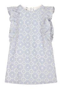 Niebieska sukienka wizytowa Primigi