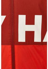 Czerwona kurtka Helly Hansen casualowa, z kapturem