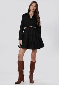 Czarna sukienka mini Born2be #6
