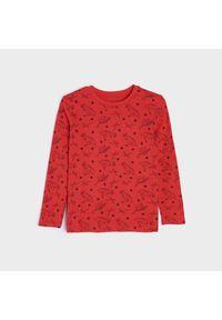 Sinsay - Koszulka z długimi rękawami - Czerwony. Kolor: czerwony. Długość rękawa: długi rękaw. Długość: długie