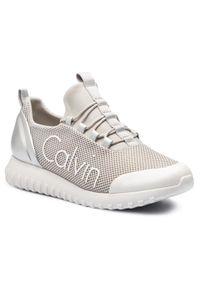 Srebrne sneakersy Calvin Klein Jeans