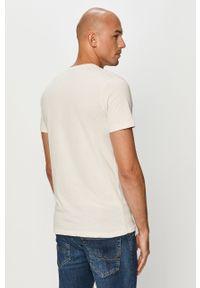 Biały t-shirt Jack & Jones z nadrukiem, casualowy