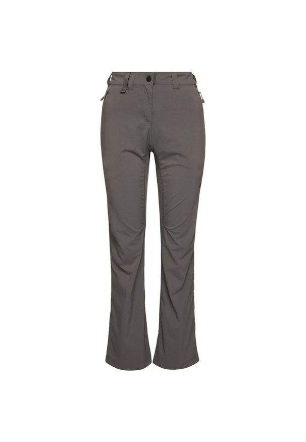 Szare spodnie trekkingowe Jack Wolfskin outdoorowe
