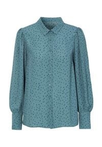 Cellbes Wzorzysta bluzka z bufkami niebieski we wzory female niebieski/ze wzorem 58/60. Kolor: niebieski. Materiał: tkanina, poliester. Długość rękawa: długi rękaw. Długość: długie. Styl: klasyczny