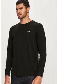 Czarna koszulka z długim rękawem Lacoste na co dzień, casualowa, gładkie