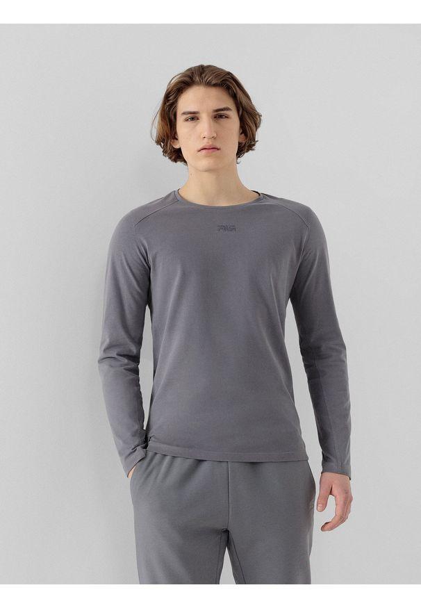 Szara koszulka z długim rękawem 4f z nadrukiem