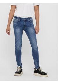 Only & Sons - ONLY & SONS Jeansy Warp 22018256 Granatowy Skinny Fit. Kolor: niebieski