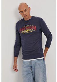 Premium by Jack&Jones - Bluza. Okazja: na co dzień. Kolor: niebieski. Wzór: aplikacja. Styl: casual
