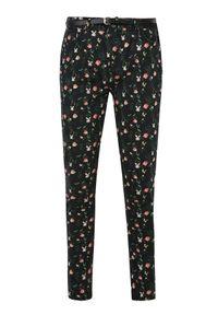 Czarne spodnie TOP SECRET na co dzień, w kwiaty, na jesień