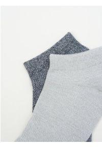 outhorn - Skarpety basic do kostki męskie (2 pary). Materiał: bawełna, elastan, włókno, poliamid, poliester