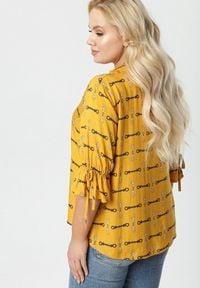 Born2be - Żółta Bluzka Ocenore. Kolor: żółty