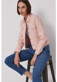 Levi's® - Levi's - Kurtka jeansowa. Okazja: na co dzień, na spotkanie biznesowe. Kolor: różowy. Materiał: jeans. Styl: biznesowy, casual