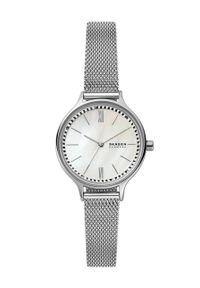 Skagen - Zegarek SKW2966. Kolor: srebrny. Materiał: materiał