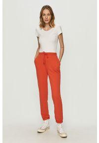 Czerwone spodnie dresowe Noisy may