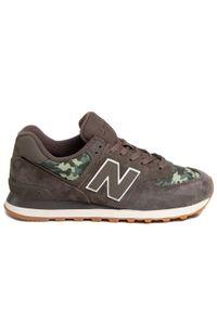 Zielone buty sportowe New Balance na co dzień, z cholewką, New Balance 574 #6