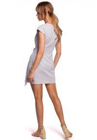 Sukienka MOE na lato, z krótkim rękawem