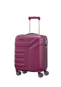 Travelite - TRAVELITE VECTOR Walizka mała 40L Pflaume 4-koła. Kolor: fioletowy. Materiał: materiał