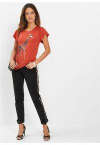 Czerwona bluzka bonprix z nadrukiem