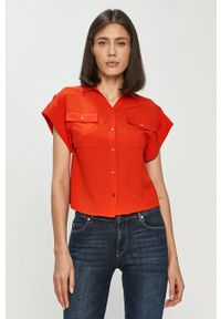 Silvian Heach - Koszula. Okazja: na co dzień. Kolor: czerwony. Długość rękawa: krótki rękaw. Długość: krótkie. Styl: casual