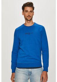 Pepe Jeans - Bluza bawełniana Elie. Okazja: na co dzień. Kolor: niebieski. Materiał: bawełna. Wzór: nadruk. Styl: casual