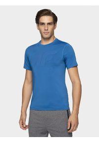 Niebieska koszulka sportowa 4f