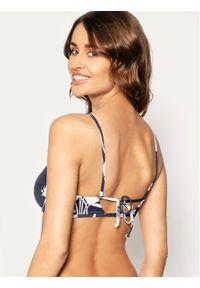 Roxy Góra od bikini Printed Beach Classics ERJX304071 Granatowy. Kolor: niebieski