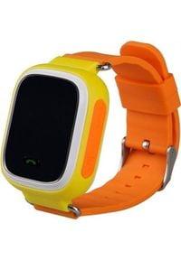 Smartwatch GSM City Q60 Żółty (4544-uniw). Rodzaj zegarka: smartwatch. Kolor: żółty
