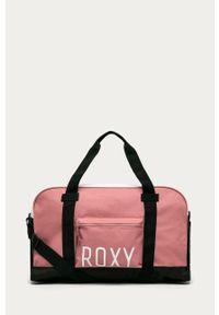 Różowa torba podróżna Roxy z nadrukiem