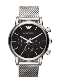 Emporio Armani - Zegarek AR1811. Kolor: srebrny. Materiał: materiał