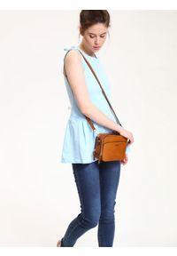 Niebieska bluzka TROLL casualowa, z dekoltem na plecach, na lato #7