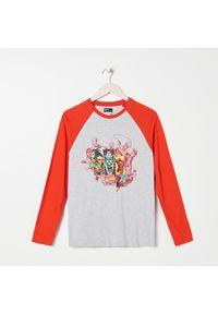 Szary t-shirt Sinsay z motywem z bajki