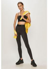 Czarne legginsy adidas Performance z podwyższonym stanem, gładkie