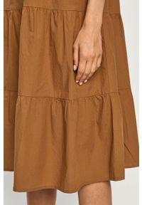 Sukienka Noisy may mini, z okrągłym kołnierzem, z krótkim rękawem, prosta #6