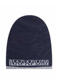 Niebieska czapka Napapijri z aplikacjami