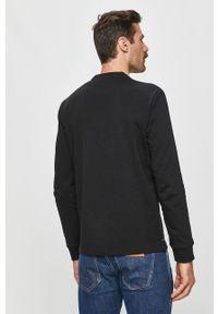 Czarna koszulka z długim rękawem Calvin Klein casualowa, z nadrukiem, na co dzień