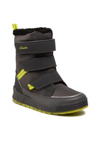 Szare buty zimowe Clarks