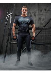 Koszulka sportowa FJ! krótka, na fitness i siłownię, z krótkim rękawem, z nadrukiem