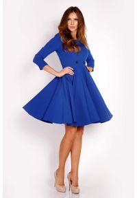 Niebieska sukienka wizytowa Lou-Lou midi